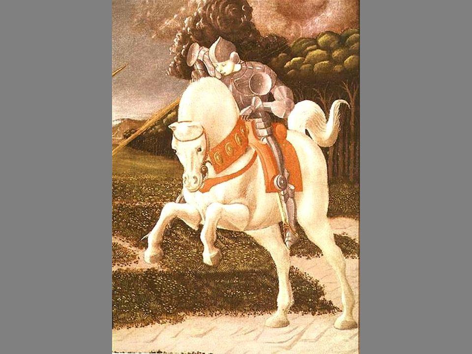 Le noble chevalier Touché dans le cœur par Touché dans le cœur par les forces de lEsprit, il représente le candidat à linitiation.
