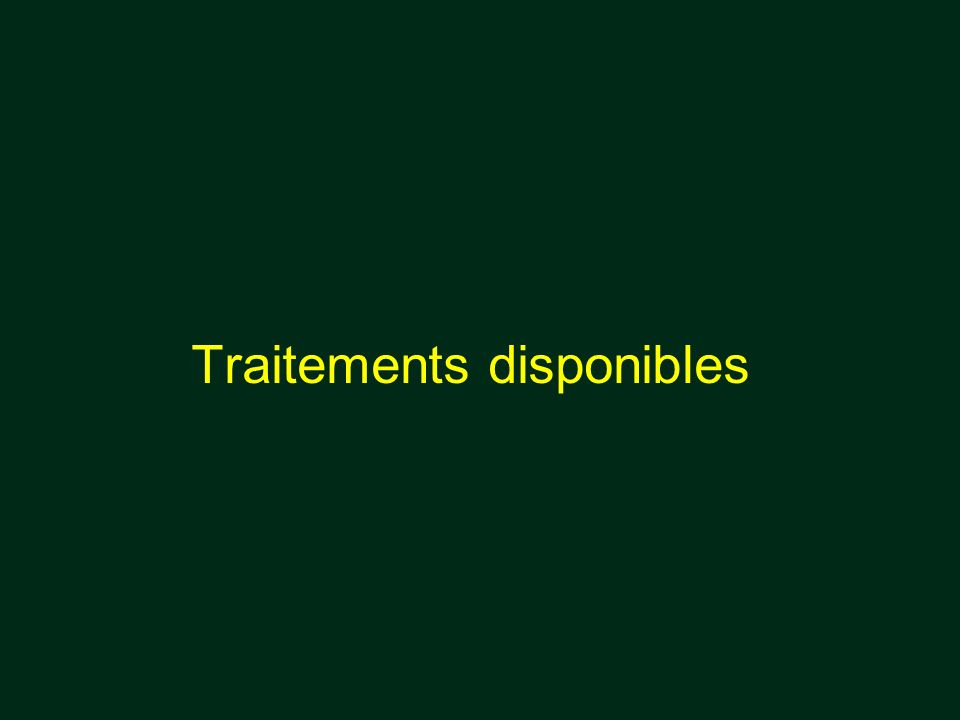 Traitements disponibles
