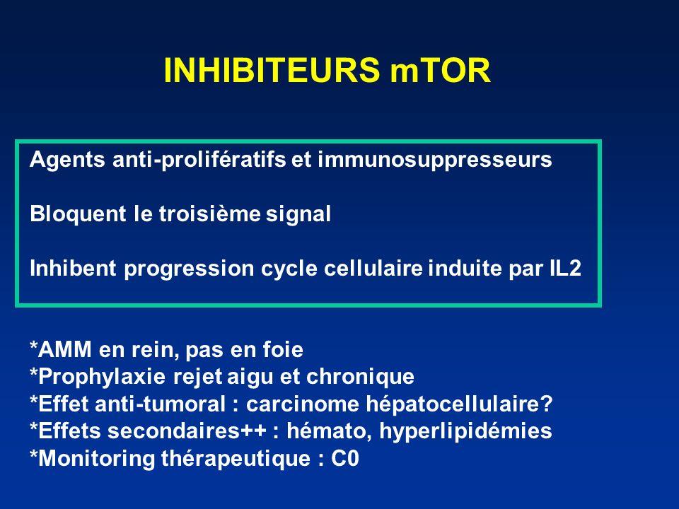 ANTICORPS POLYCLONAUX Sérums hétérologues (lapin) Chute nombre lymphocytes périphériques Mécanisme action .