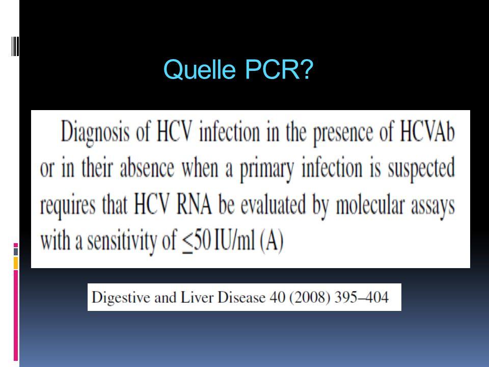 Quelle PCR?