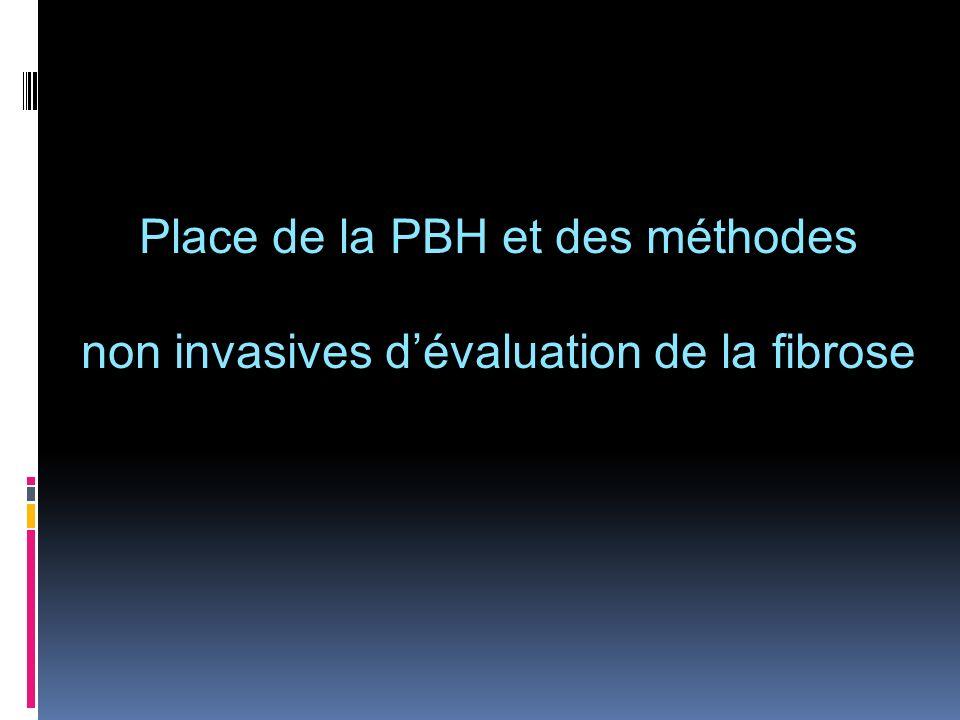 Place de la PBH et des méthodes non invasives dévaluation de la fibrose
