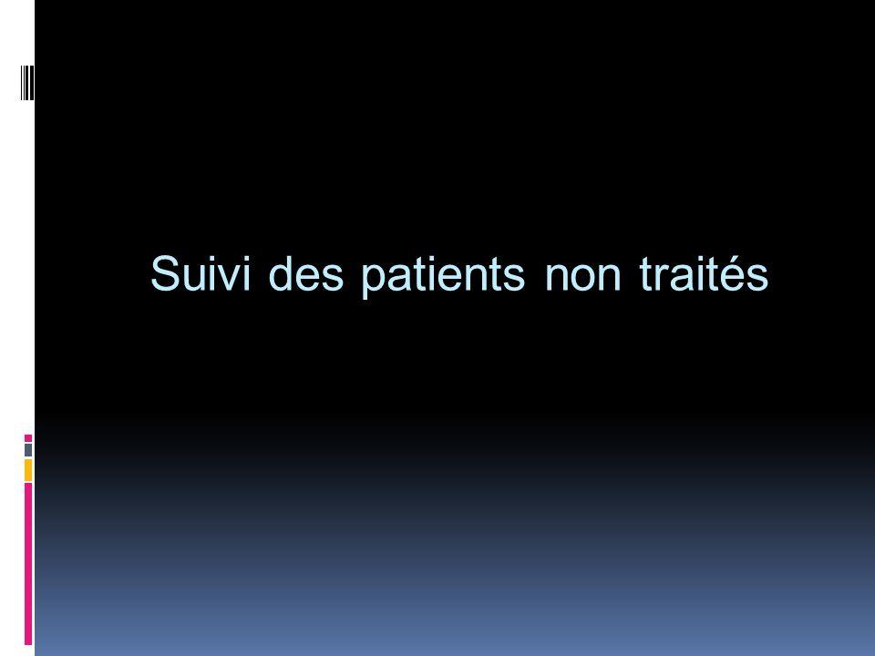 Suivi des patients non traités