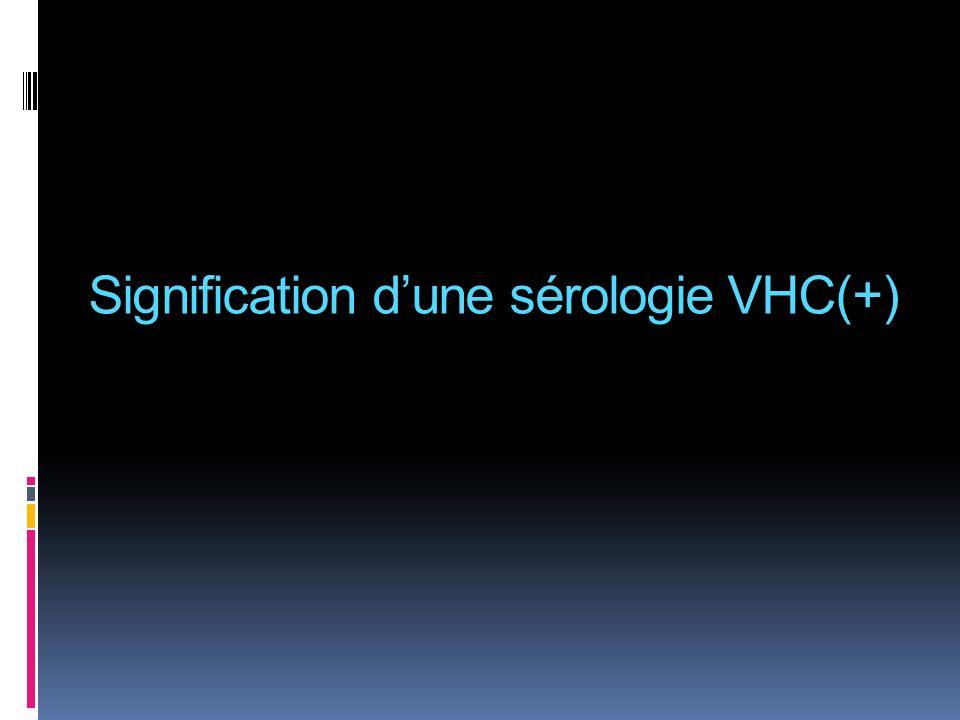 Signification dune sérologie VHC(+)
