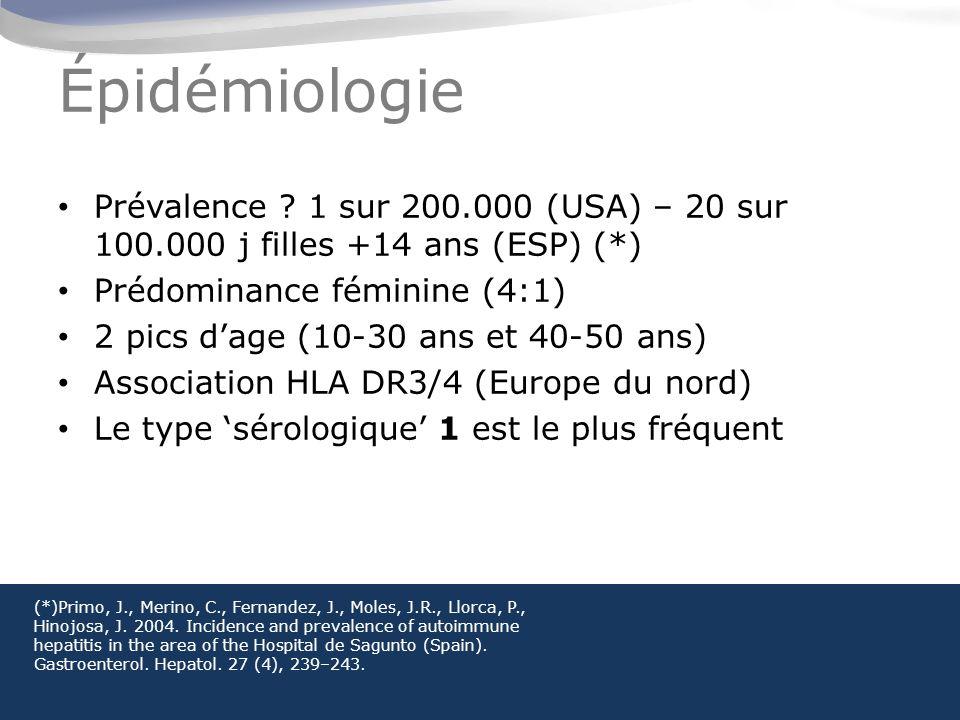 Épidémiologie Prévalence .