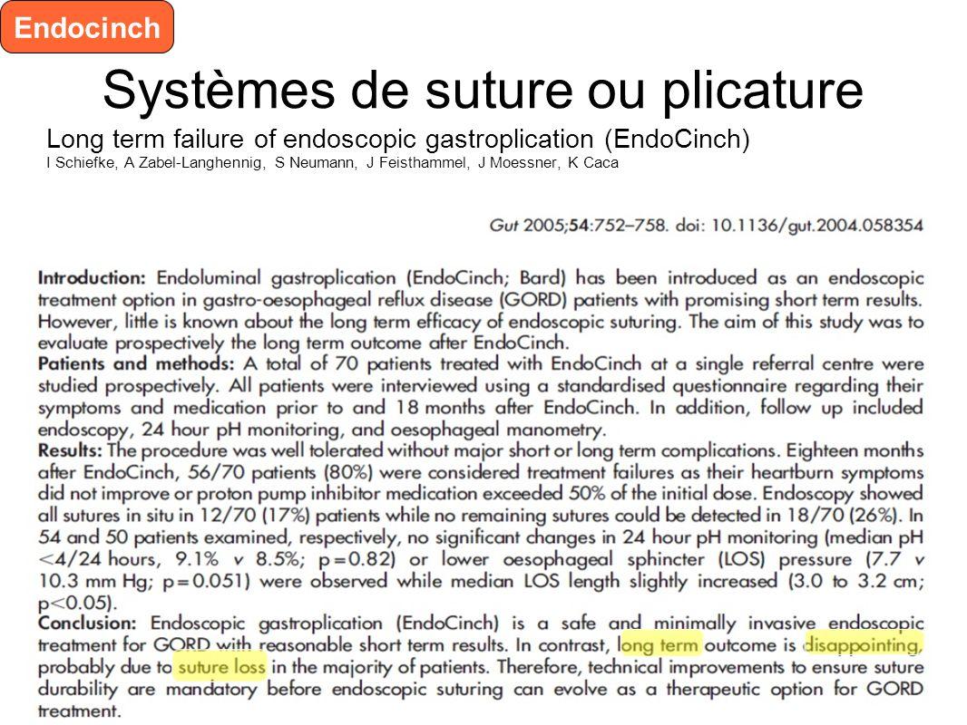 Systèmes de suture ou plicature Cook Endocopic Suture Device ESD TM ESD