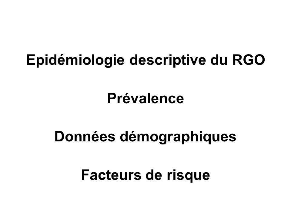 Prévalence RGO en augmentation.