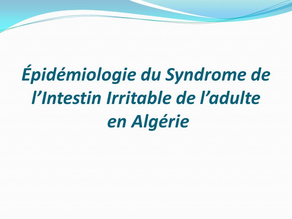Épidémiologie du Syndrome de lIntestin Irritable de ladulte en Algérie