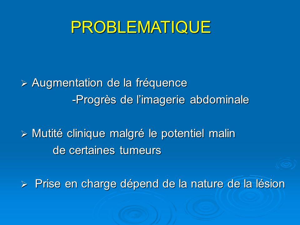 Augmentation de la fréquence Augmentation de la fréquence -Progrès de limagerie abdominale -Progrès de limagerie abdominale Mutité clinique malgré le