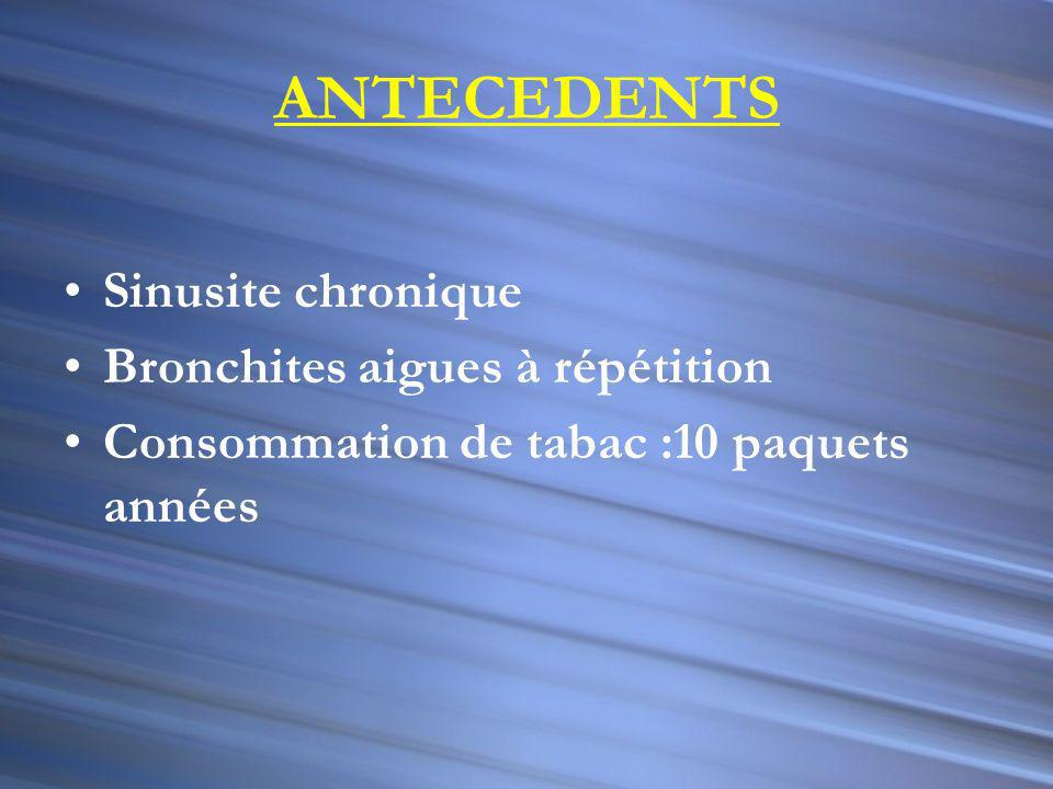 Chez notre malade: Enzyme de conversion de langiotensine ECA: 93 UI /l (nl = 8-52 UI/L) Bilan phospho- calcique: Nl EFR : syndrome restrictif minime