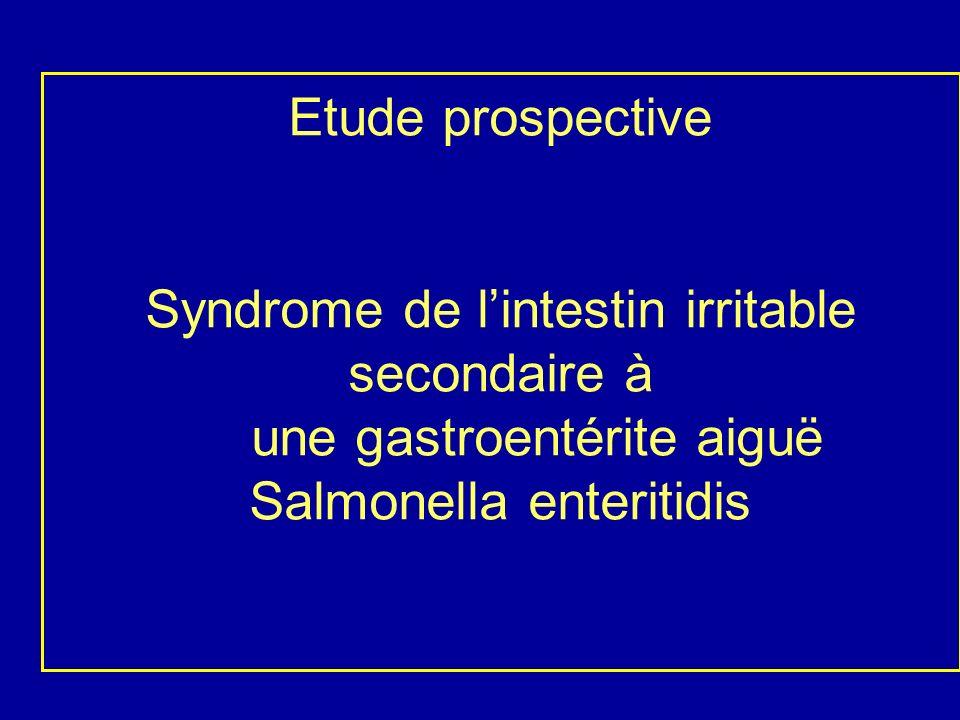 BUTS - Déterminer de façon prospective et contrôlée le risque de développer un SII lié à la gastro- entérite aiguë infectieuse (GEAI).