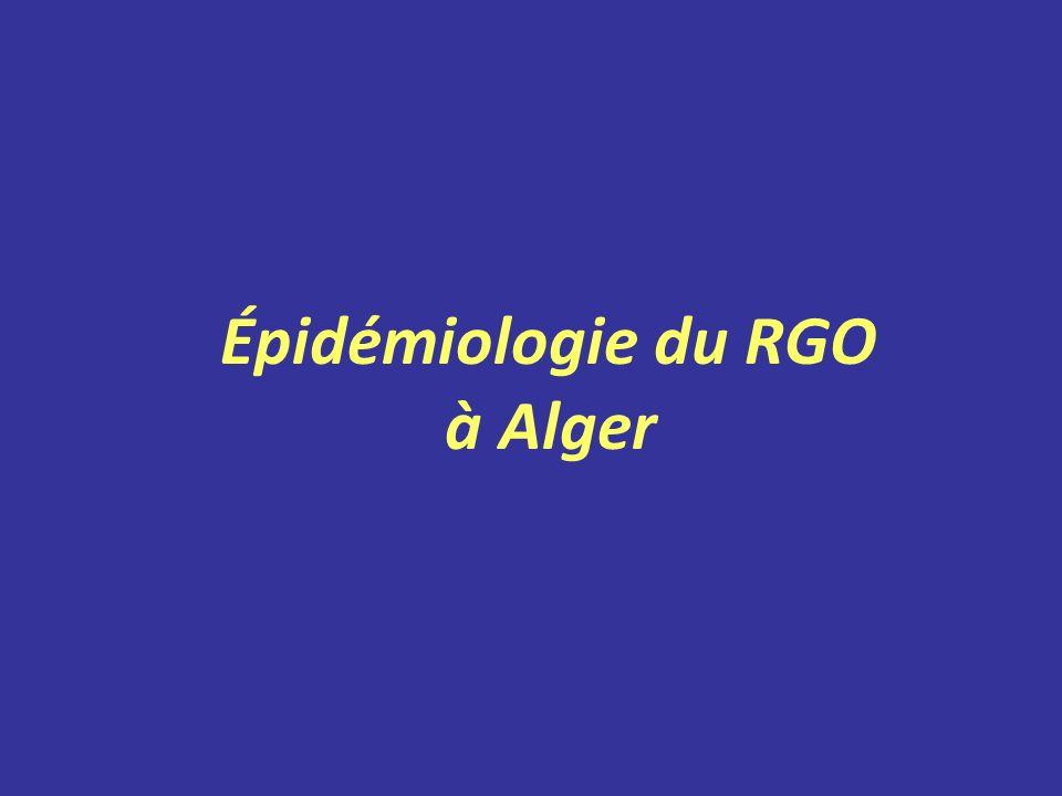 Épidémiologie du RGO à Alger