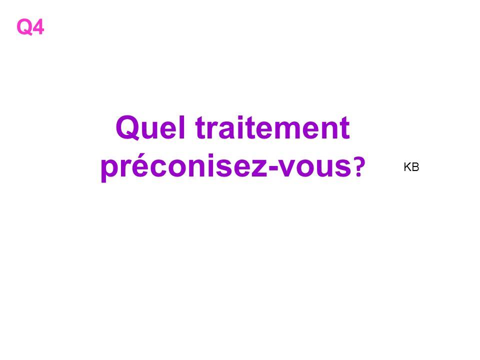 Quel traitement préconisez-vous ? Q4 KB