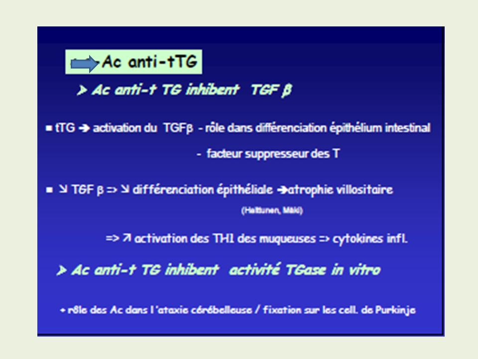 IgA Anti-Transglutaminase tissulaire 2 La vraie valeur .