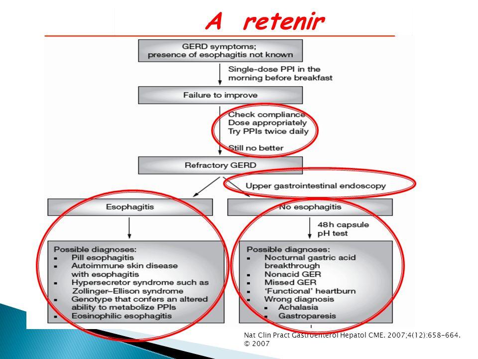 Nat Clin Pract Gastroenterol Hepatol CME. 2007;4(12):658-664. © 2007 A retenir
