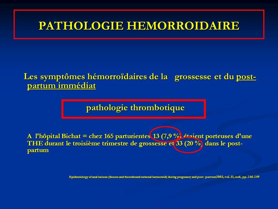 Les symptômes hémorroïdaires de la grossesse et du post- partum immédiat Les symptômes hémorroïdaires de la grossesse et du post- partum immédiat path