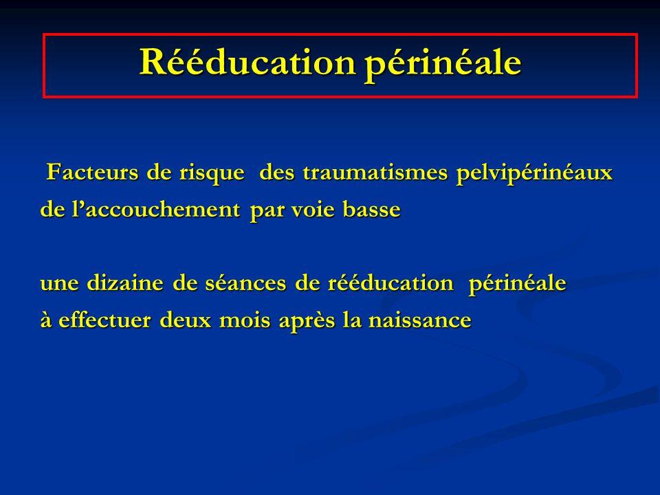 Rééducation périnéale Facteurs de risque des traumatismes pelvipérinéaux Facteurs de risque des traumatismes pelvipérinéaux de laccouchement par voie