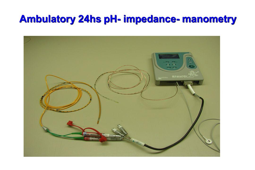 Ambulatory 24hs pH- impedance- manometry