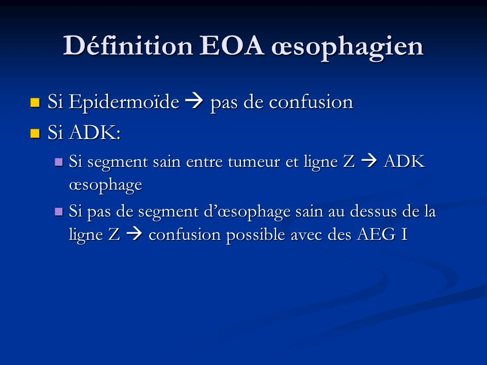 Facteurs de risques: ADK Cardia RGO: Le RGO installe le Barret, le risque est lié à lintensité du RGO mais pas les symptômes.