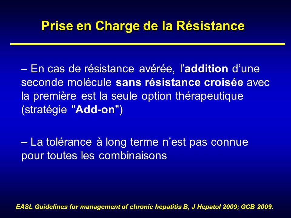 Prise en Charge de la Résistance – En cas de résistance avérée, laddition dune seconde molécule sans résistance croisée avec la première est la seule