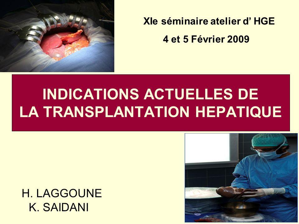 TH = Trt optimal des mdies hépatiques aigues et chroniques en phase terminale.