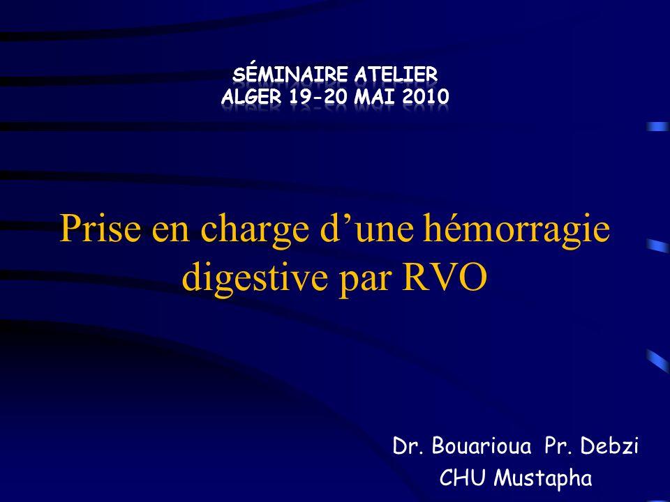 Hémorragie digestive par rupture de varice œsophagienne : efficacité confirmée de lérythromycine en pré-endoscopie Patients cirrhotiques, hospitalisés pour suspicion dhémorragie digestive par rupture de VO.