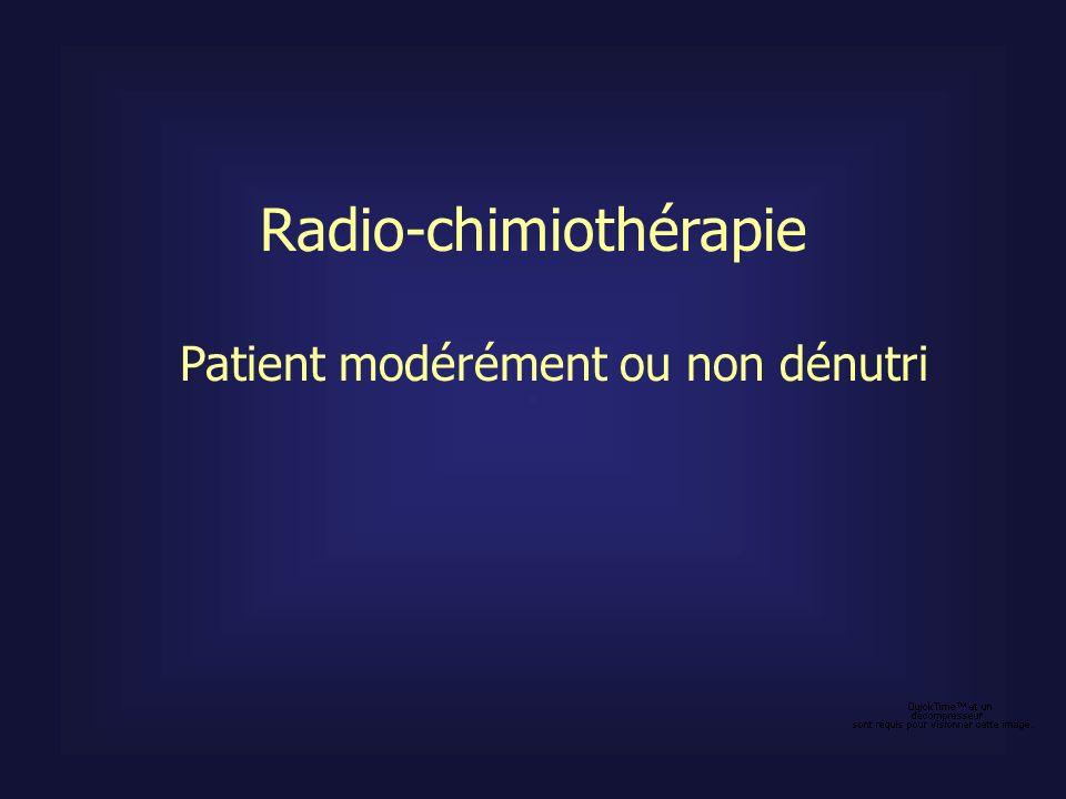Patient modérément ou non dénutri Radio-chimiothérapie