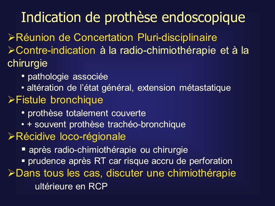 Réunion de Concertation Pluri-disciplinaire Contre-indication à la radio-chimiothérapie et à la chirurgie pathologie associée altération de létat géné
