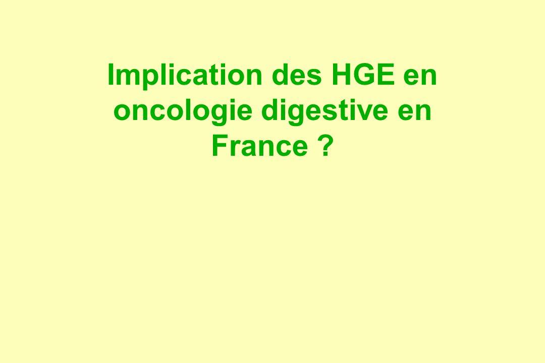Implication des HGE en oncologie digestive en France ?