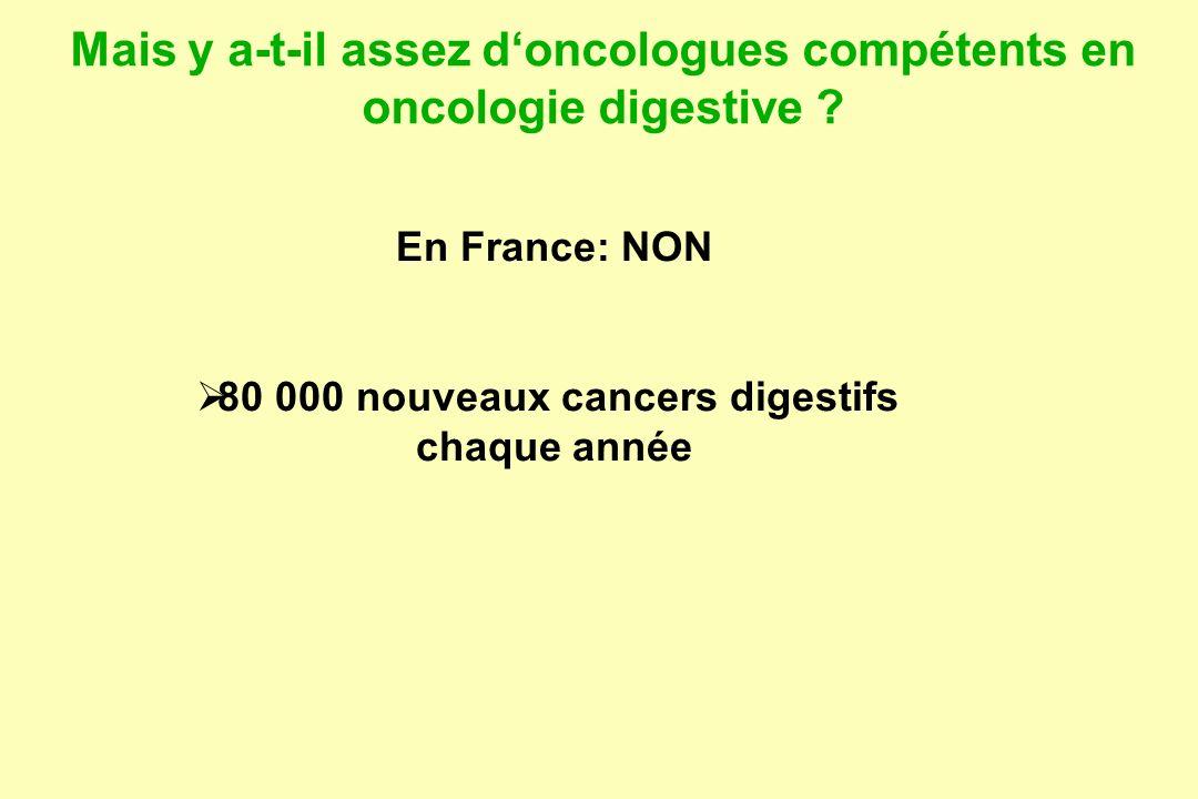 Mais y a-t-il assez doncologues compétents en oncologie digestive .