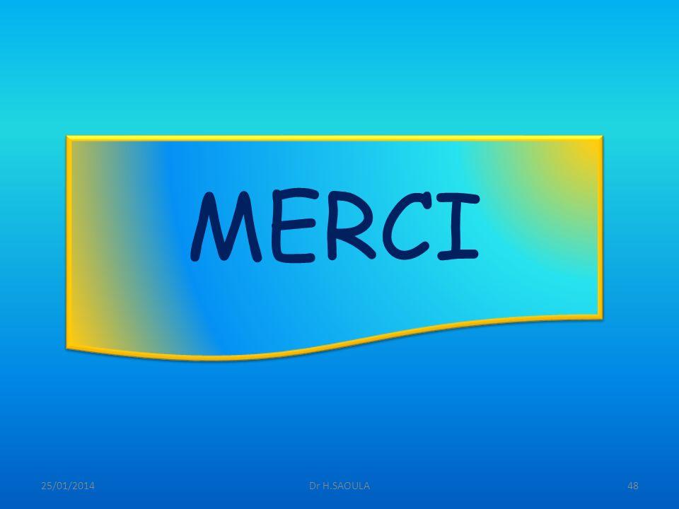 25/01/2014Dr H.SAOULA48 MERCI