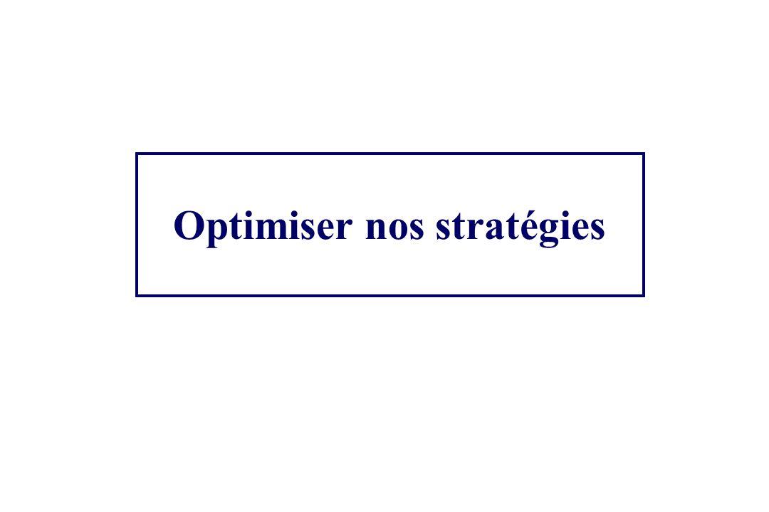 Optimiser nos stratégies