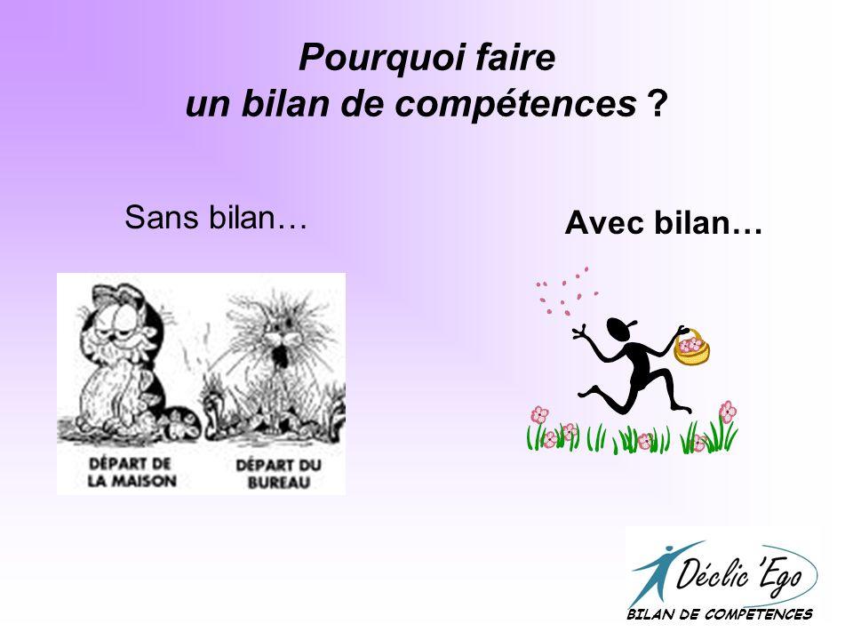 Le bilan de compétences… …« La démarche du mieux-être professionnel » BILAN DE COMPETENCES