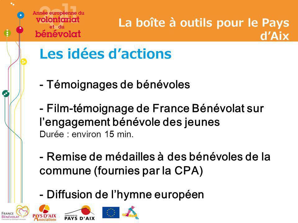 Les idées dactions - Témoignages de bénévoles - Film-témoignage de France Bénévolat sur lengagement bénévole des jeunes Durée : environ 15 min. - Remi