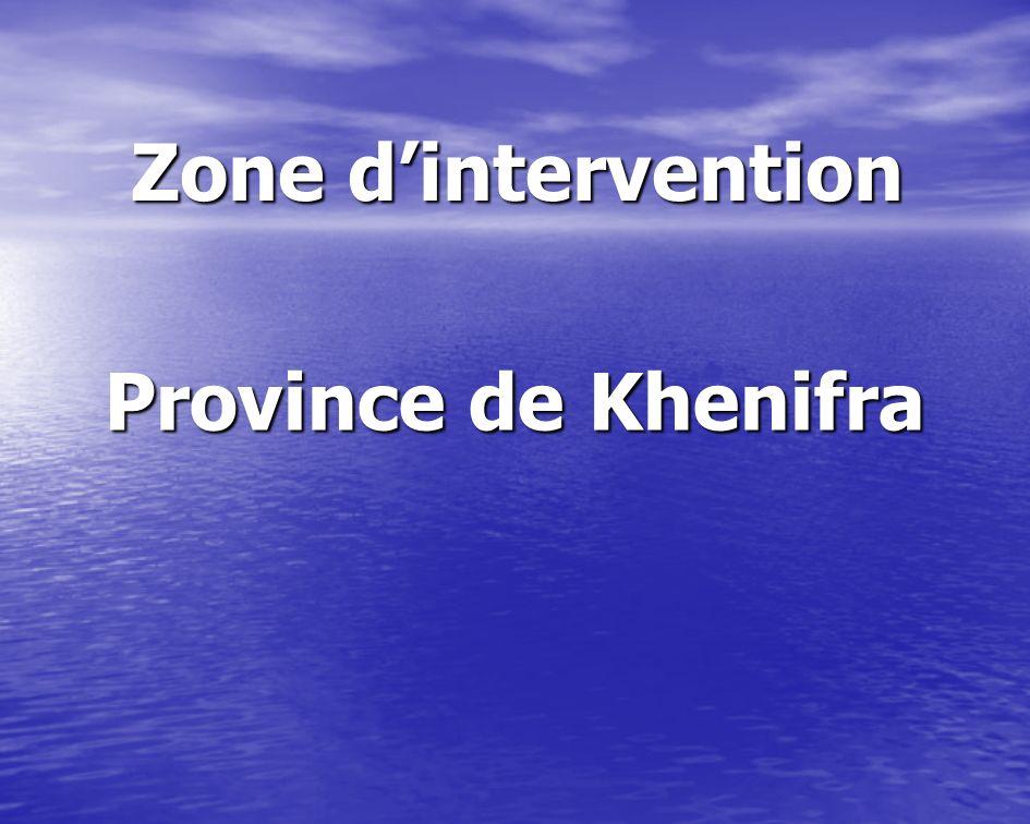 Zone dintervention Province de Khenifra