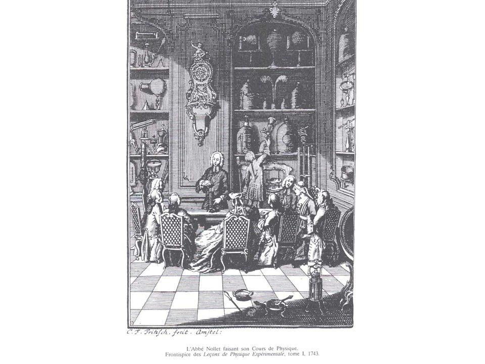 ELECTRICITE (3) Abbé Jean-Antoine NOLLET (1700-1770) est à la fois démonstrateur et propagandiste de la science. Le perfectionnement des machines élec