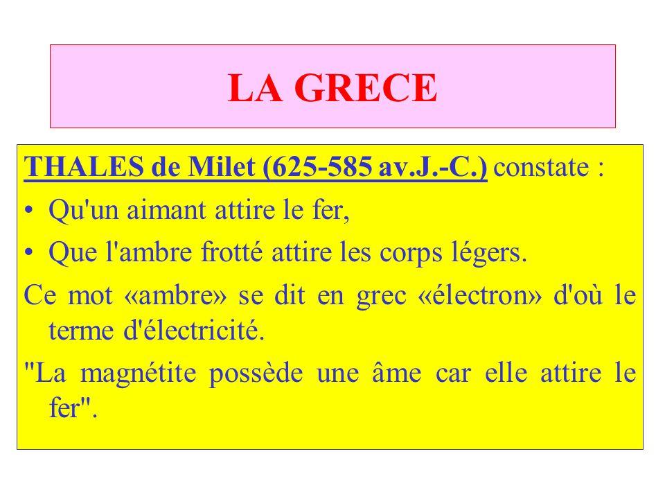LA GRECE THALES de Milet (625 585 av.J.