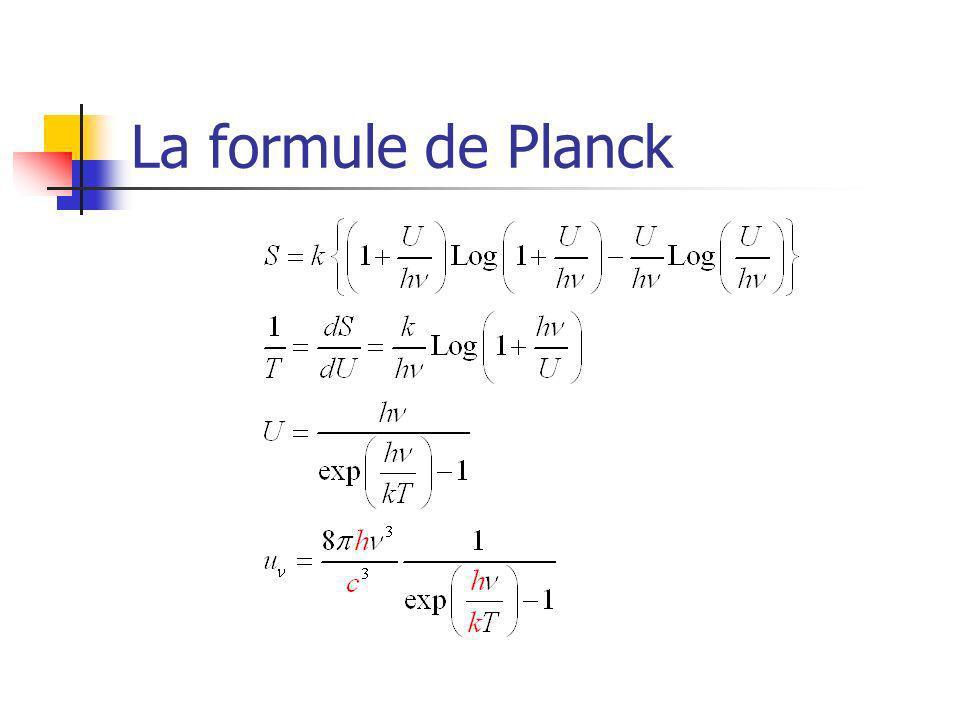 La formule de Planck