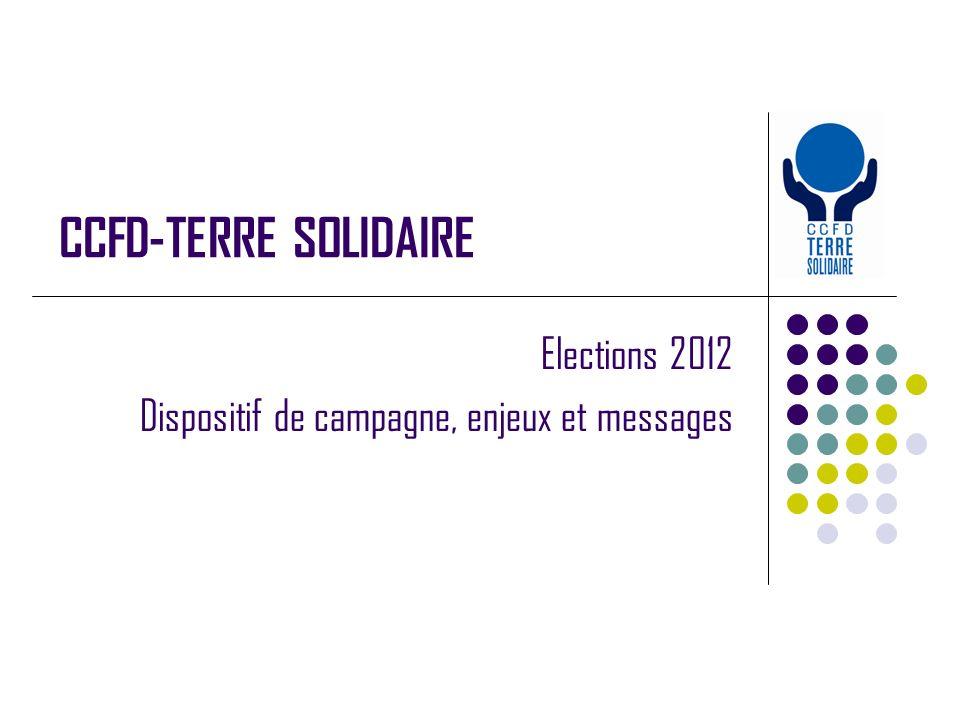 CCFD-TERRE SOLIDAIRE Elections 2012 Dispositif de campagne, enjeux et messages