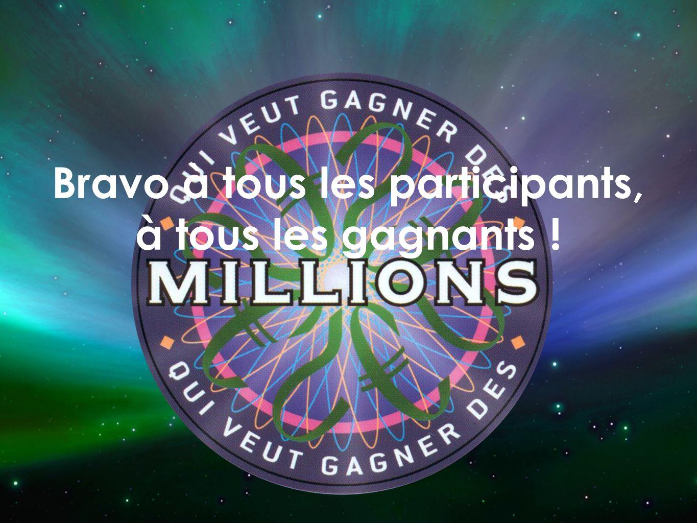 Bravo à tous les participants, à tous les gagnants !