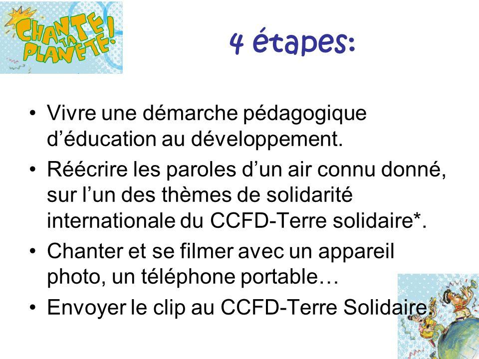 6 thématiques de solidarité internationale au CCFD – Terre Solidaire Paix Alimentation Migrations internationales Partage des richesses Économie sociale et solidaire Égalité hommes - femmes
