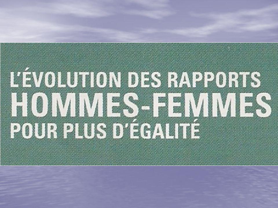 La situation des rapports hommes-femmes dans de nombreux pays ou secteurs dactivité est marquée par la domination des hommes.