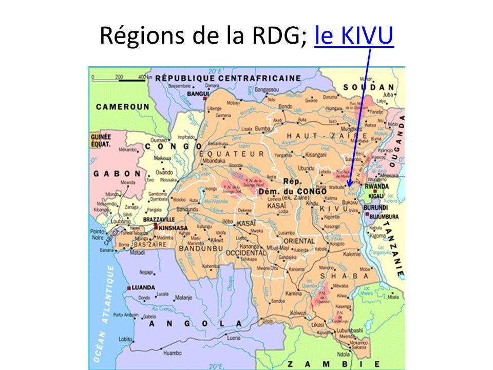 Régions de la RDG; le KIVU
