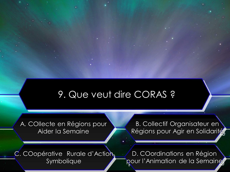 C. COopérative Rurale dAction Symbolique A. COllecte en Régions pour Aider la Semaine B.