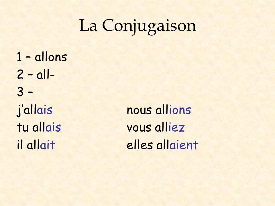 La Conjugaison The only irregular verb is être.