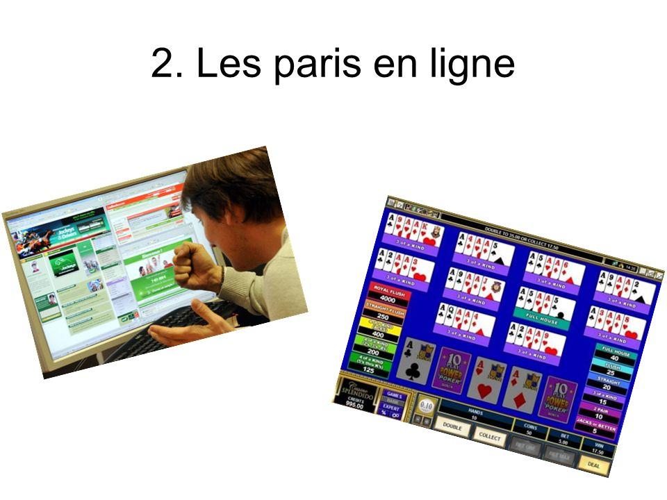 2. Les paris en ligne