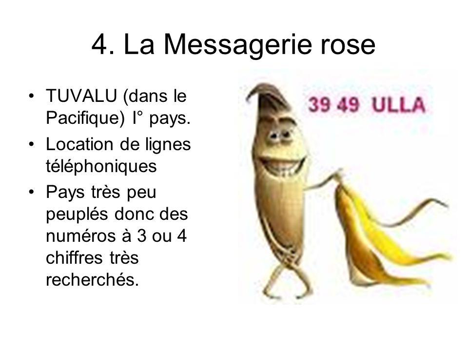 4. La Messagerie rose TUVALU (dans le Pacifique) I° pays.