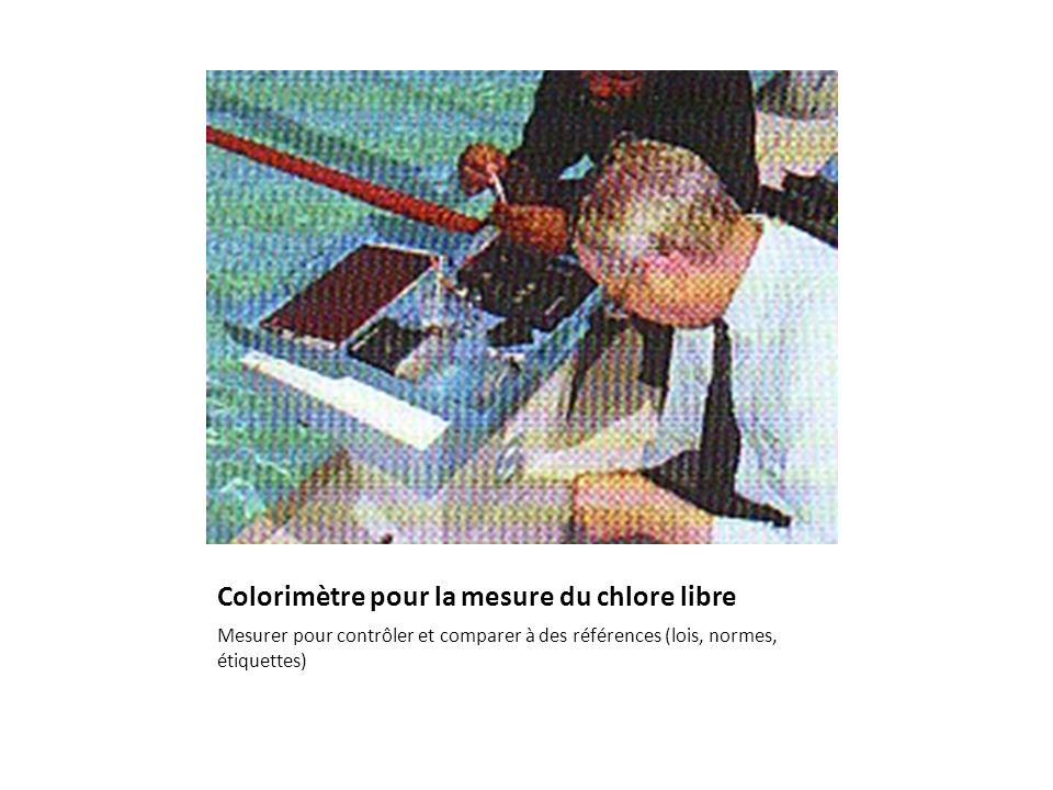 Colorimètre pour la mesure du chlore libre Mesurer pour contrôler et comparer à des références (lois, normes, étiquettes)