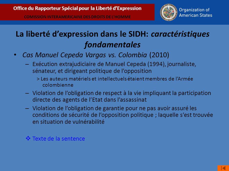 Cas Manuel Cepeda Vargas vs.
