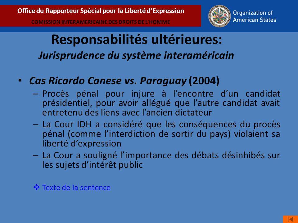 Cas Ricardo Canese vs.