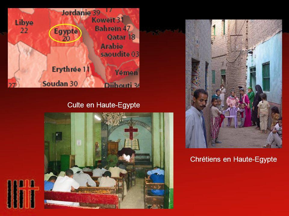 Chrétiens en Haute-Egypte Culte en Haute-Egypte